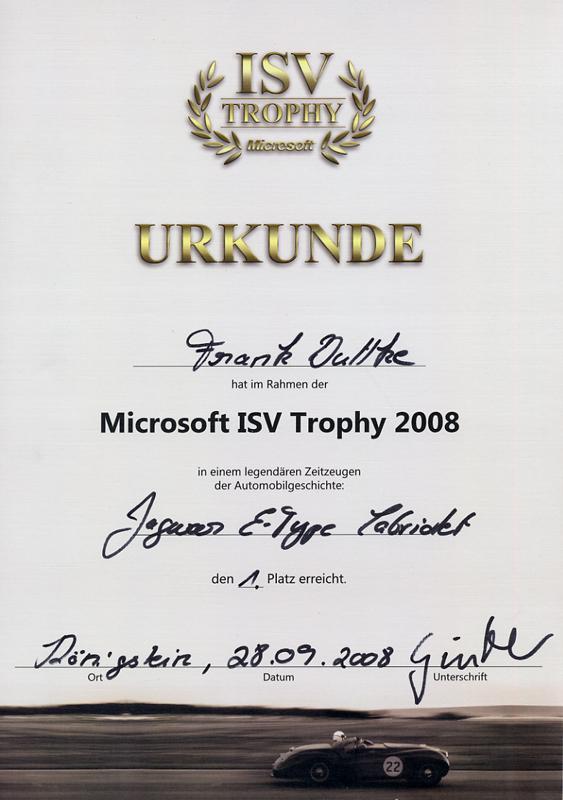 Microsoft ISV Trophy 2008