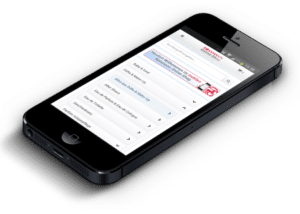 Startseite des Rossmann Online Shops auf dem iPhone 4