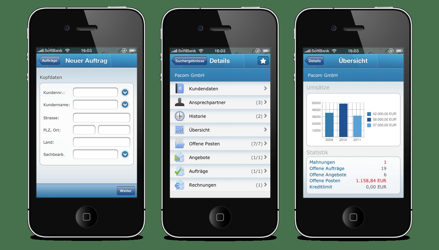 Ihre Informationen für unterwegs!eEvolution Mobile für iPhone