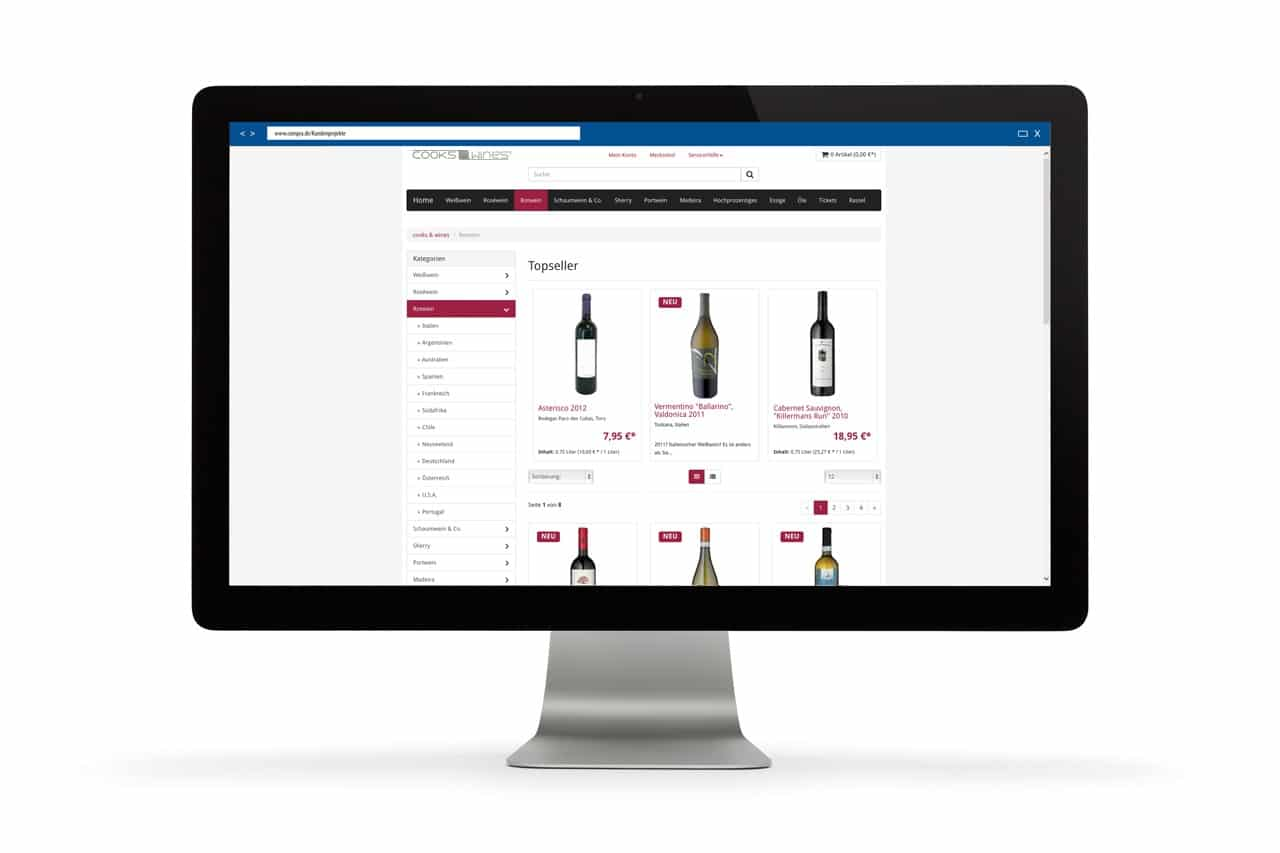 Projekt: Cooks & Wines Webshop