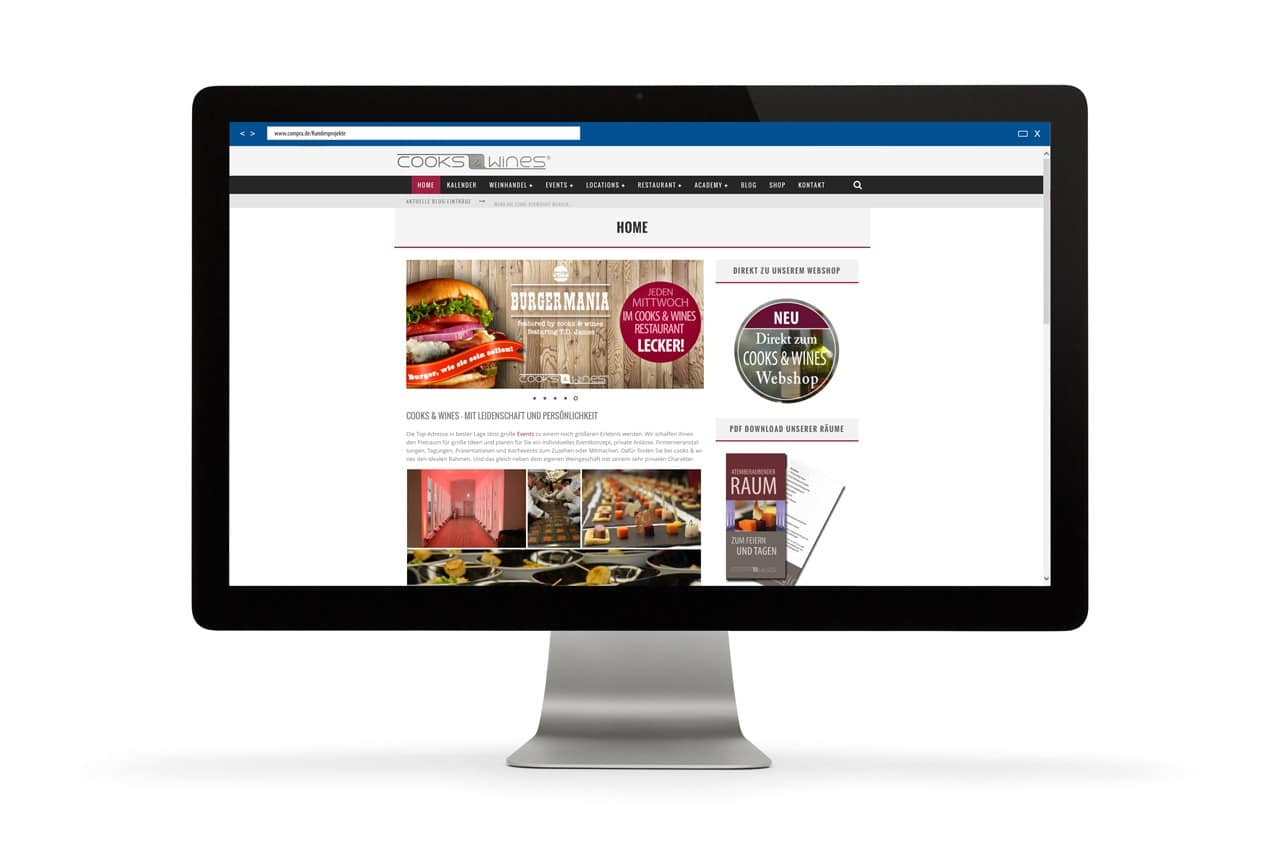 Projekt: Cooks & Wines Webseite