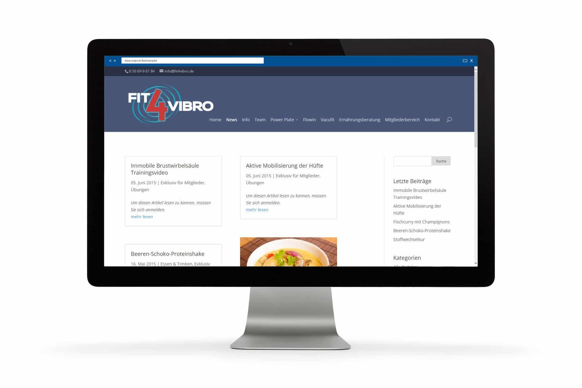 Im Newsfeed von Fit-4-Vibro gibt es Spannendes rund um das Thema Fittness und Ernährung zu lesen.
