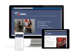 Fit-4-Vibro kann auf unterschiedlichen Geräten und Auflösungen aufgerufen werden.