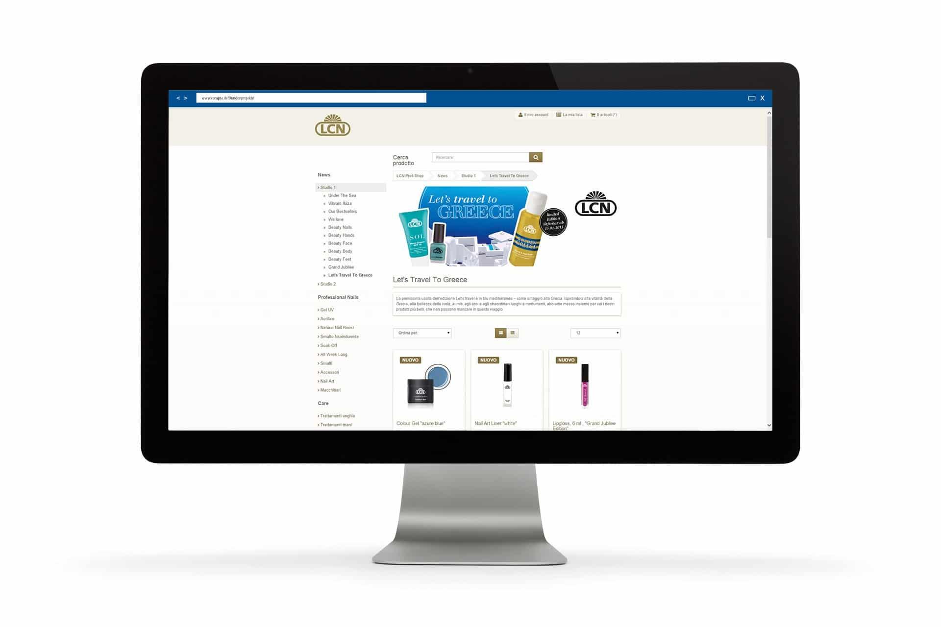 Über der Produktliste können auch Banner und zusätzliche Werbetexte gepflegt werden.