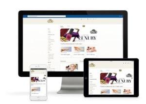 Der LCN Profi Shop ist auf verschiedenen Geräten aufrufbar und passt sein Layout entsprechend an.