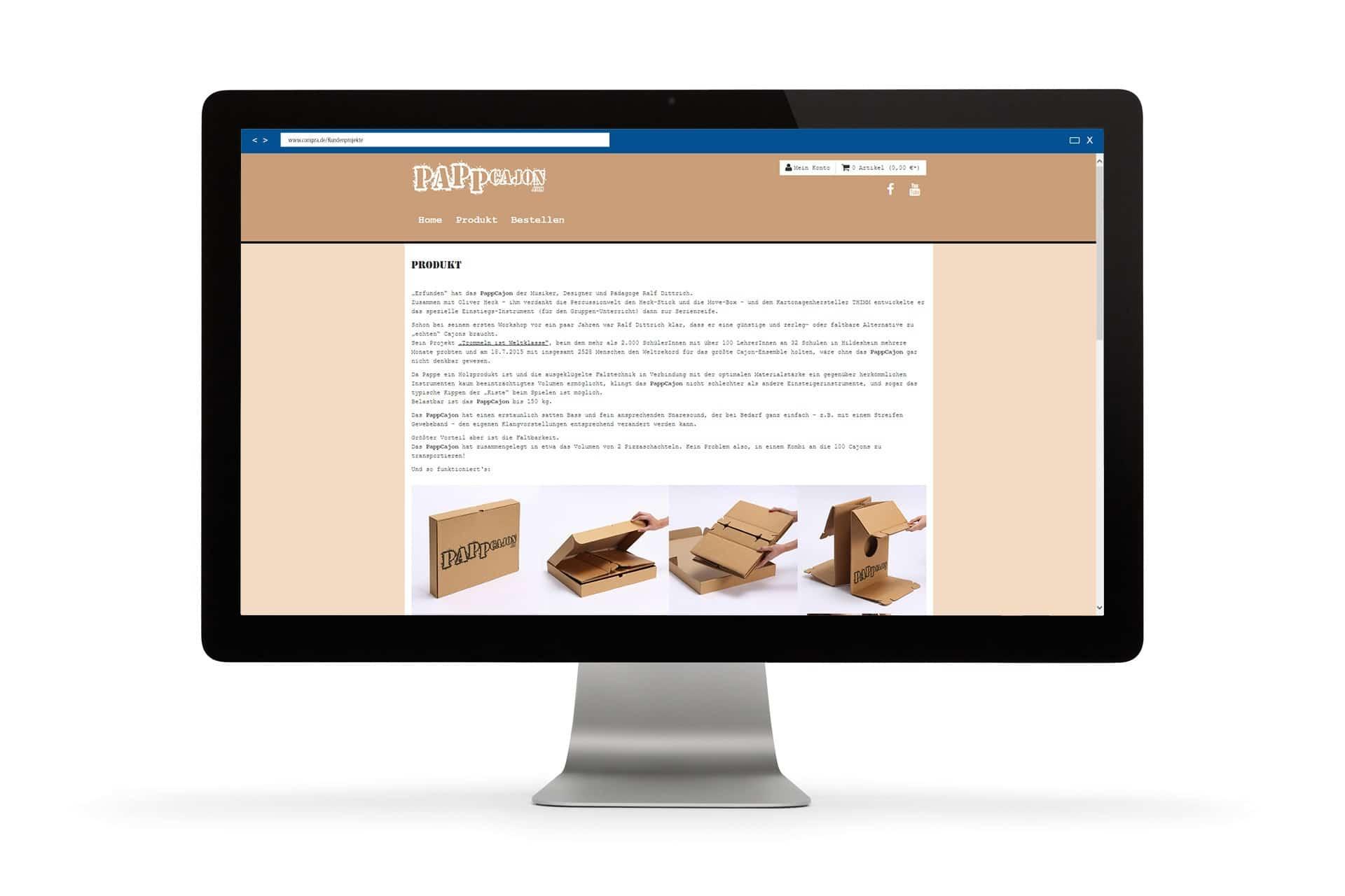 Auf einer Produktseite kann man alles über das Produkt erfahren sowie eine Aufbauanleitung ansehen.