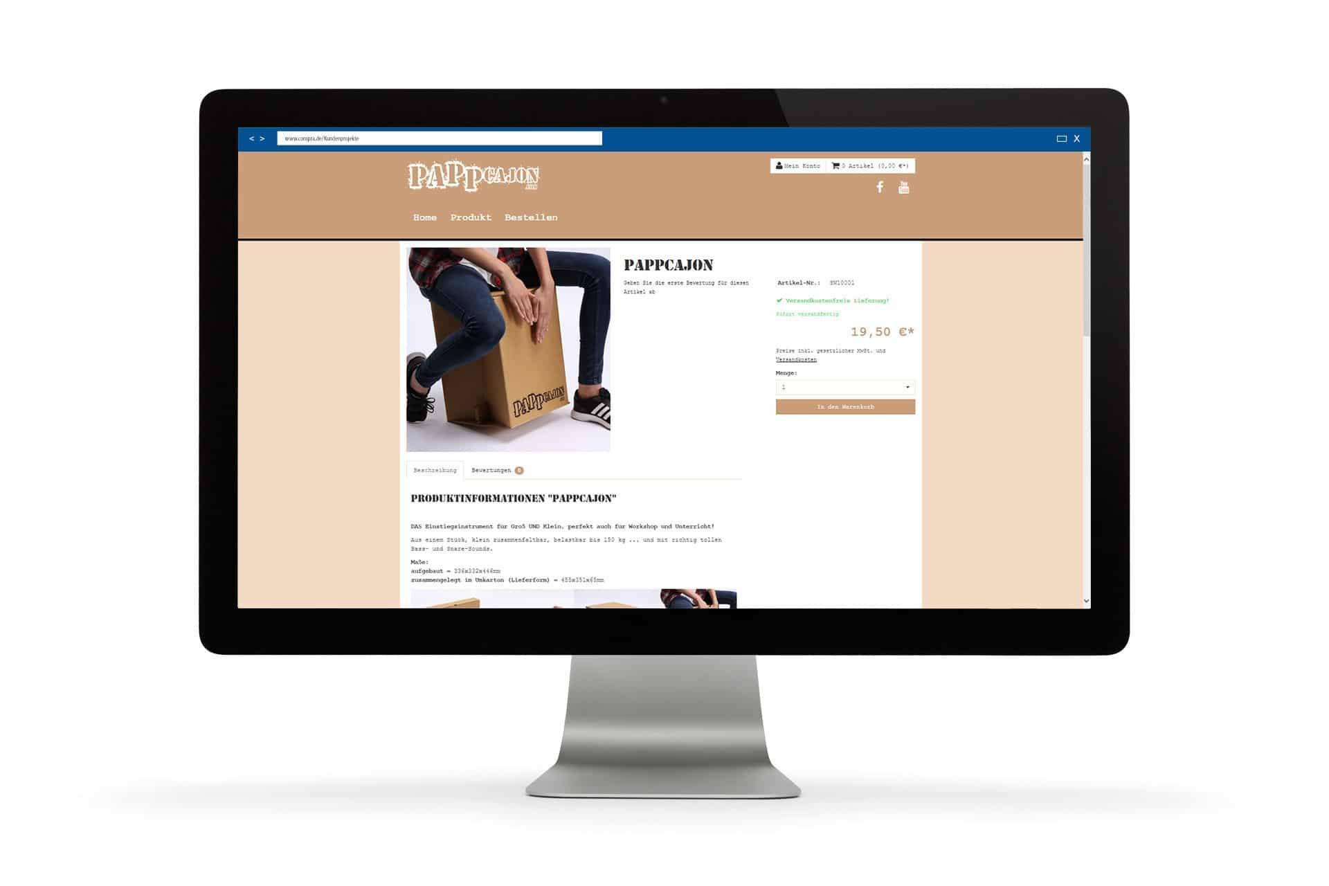 Auf der Produktdetailseite erfährt man alle Details zum Produkt.