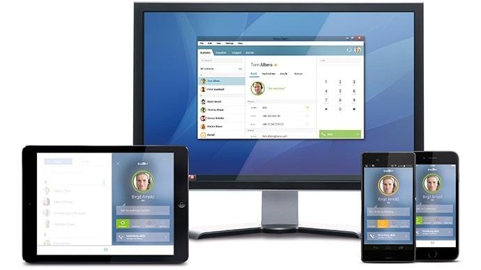 SWYX Anwendungen laufen auf vielen verschiedenen Geräten