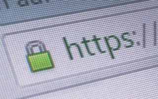 Detailaufnahme des HTTPS Symbols im Browser