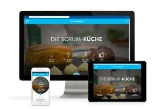 Die Scrumcooking Website zeigt optimierte Darstellungen für jedes Gerät.