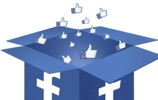 Facebook Box mit Daumen