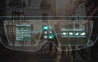 Beispielhafter Blick durch die Microsoft HoloLens