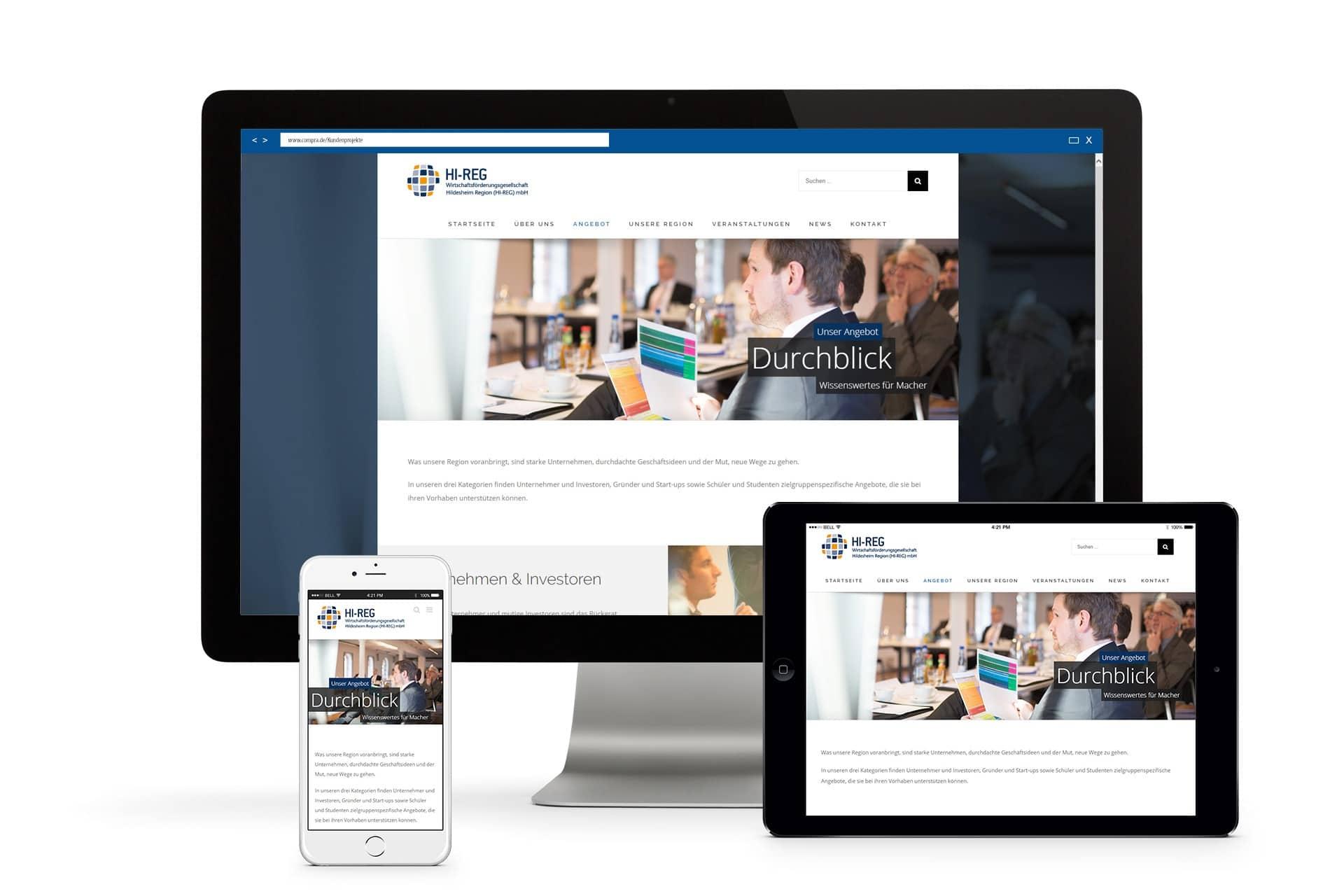 Wirtschaftsförderungsgesellschaft Hildesheim Website