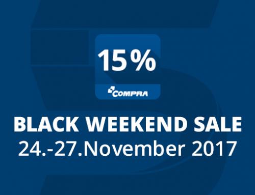 Black Weekend Sale: Rabatt auf COMPRA Plugins