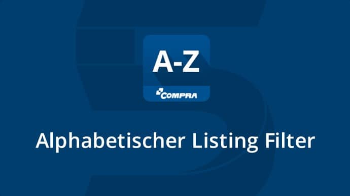 A-Z Icon, Alphabetischer Listing Filter
