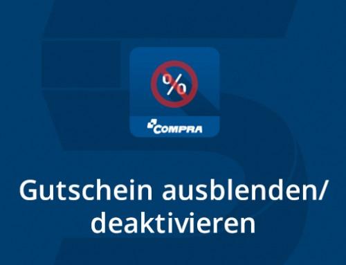Neues COMPRA Shopware-Plugin: Gutscheinfunktion deaktivieren