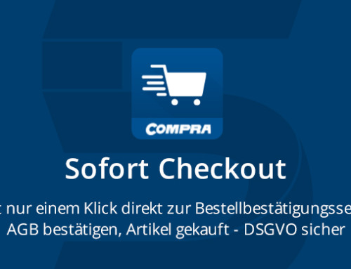 Neues COMPRA Shopware-Plugin:  Sofort Checkout (Express-Kasse)