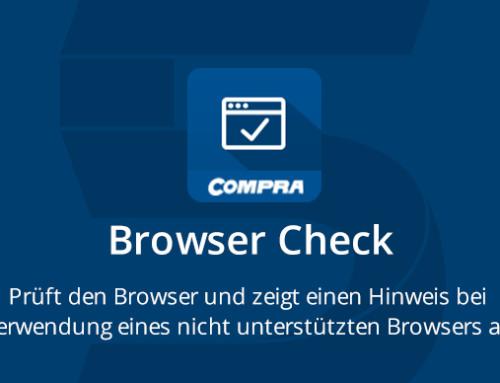 Browser Check – das neue COMPRA Plugin für Shopware