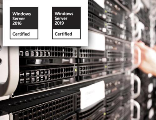 eEvolution ist für Windows Server 2016 und 2019 zertfiziert