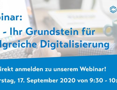 Webinar am 17.09.2020: ELO – Ihr Grundstein für erfolgreiche Digitalisierung